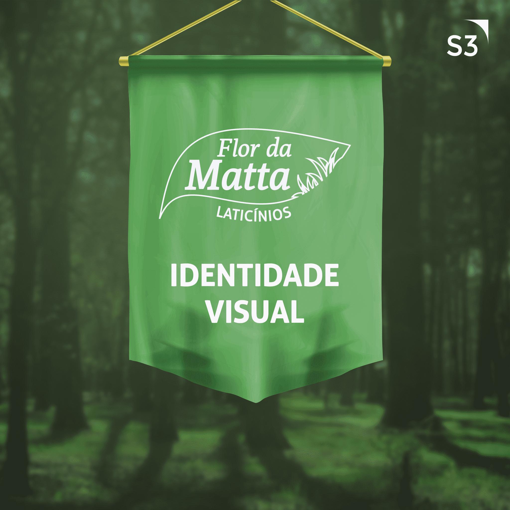 Identidade Visual da produtora de laticínios Flor Da Matta