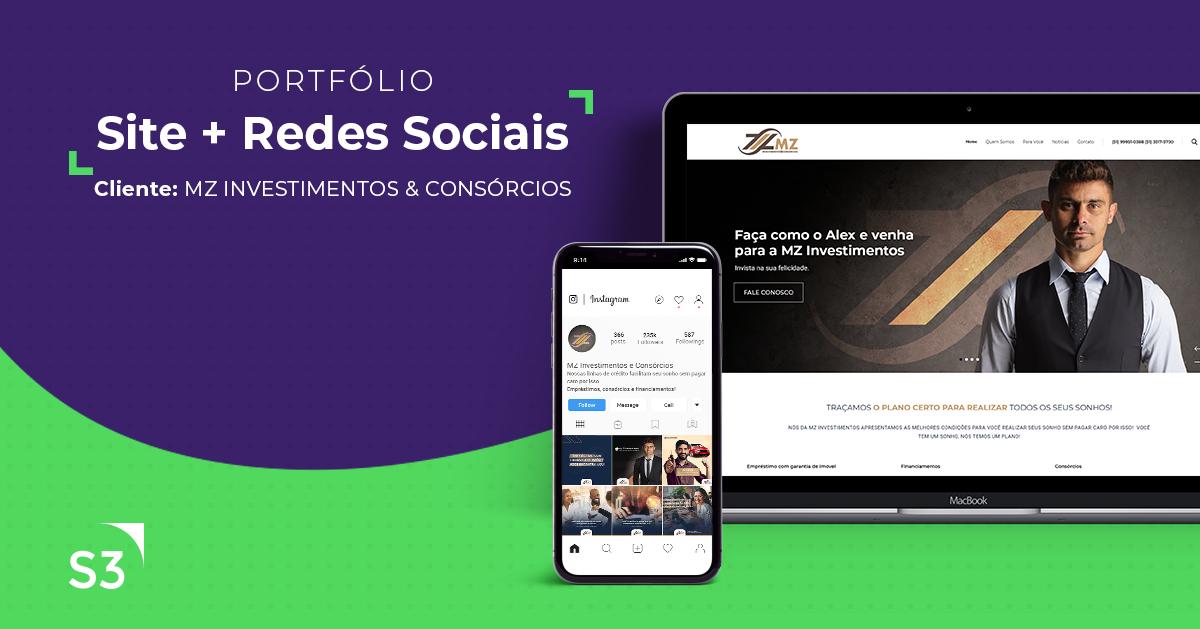 MZ Investimentos | Site + Identidade Visual