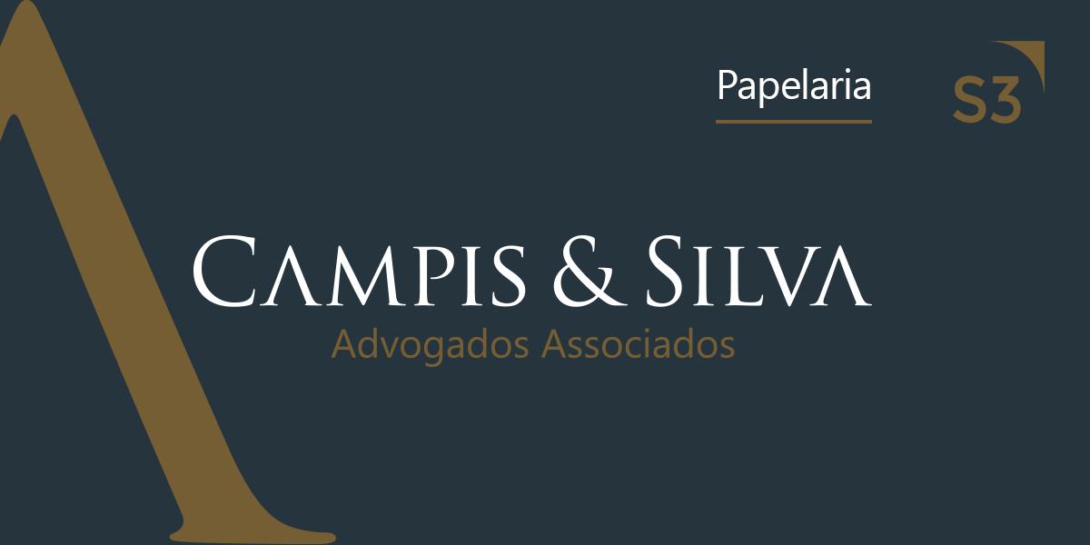 Papelaria do escritório de direito Campis & Silva