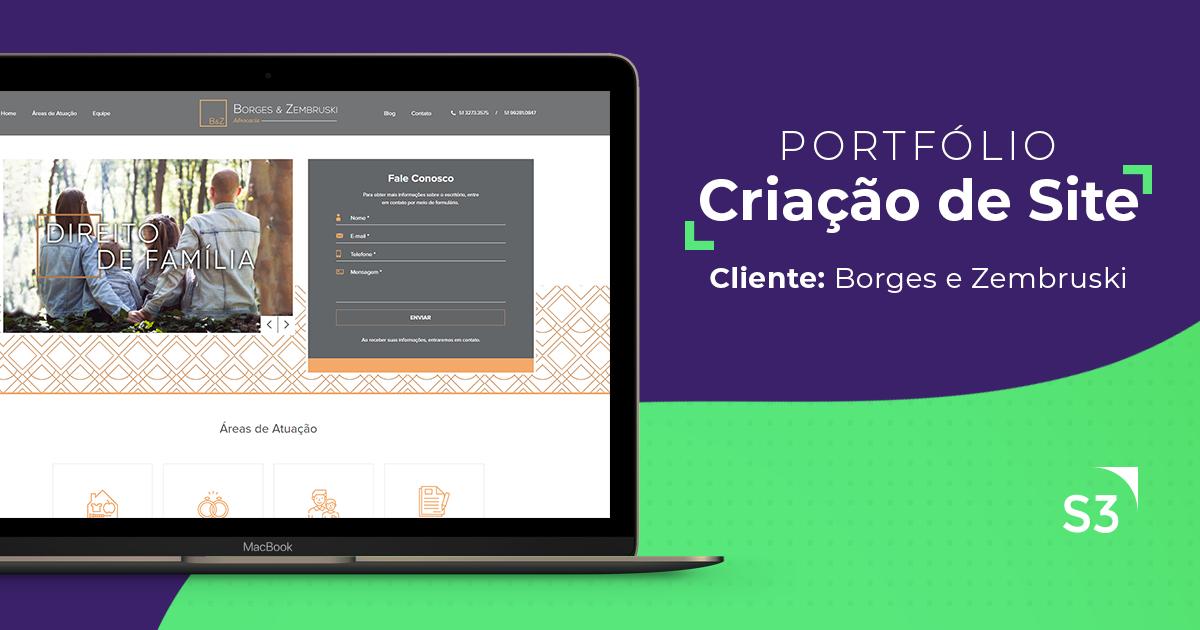 Site One Page - Borges e Zembruski Advocacia