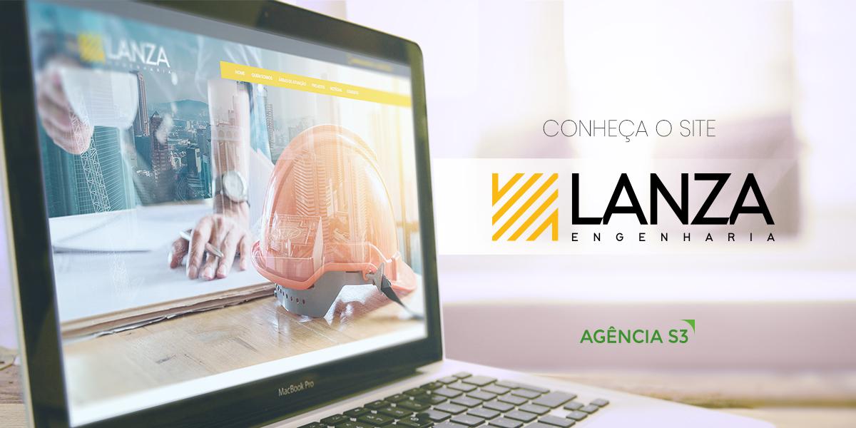 Website da empresa de engenharia Lanza