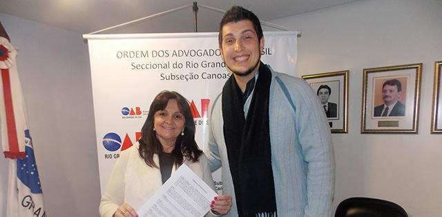Subseção firma convênio com a Agência S3 - OAB Canoas