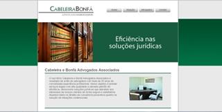 Agência s3 entrega site para escritório Cabeleira e Bonfá Advogados