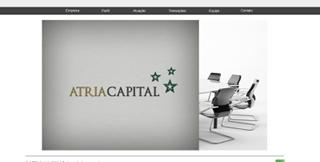 Novo site da Atria Capital está no ar