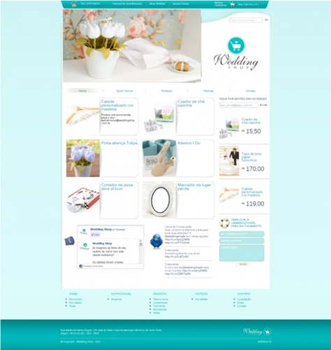 Agência s3 finaliza portal da Wedding Shop