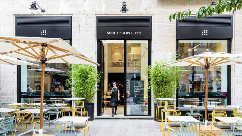 Moleskine inaugurou uma cafeteria para você criar offline