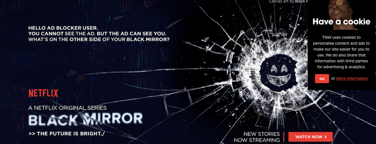 Netflix fura o bloqueio do Adblocker para promover anúncios de Black Mirror