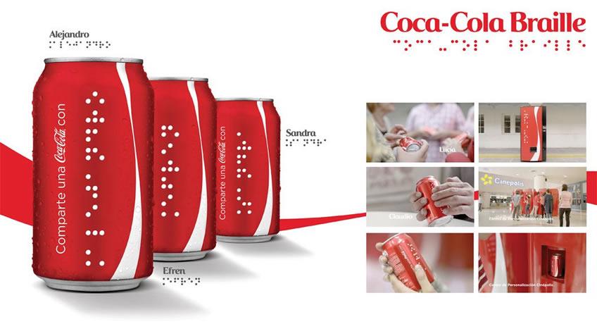Coca-Cola lança latas e garrafas em Braile na Argentina e México